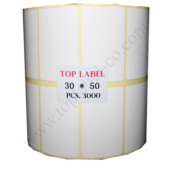 لیبل کاغذی 50*30