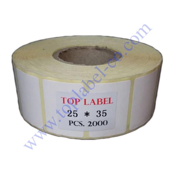 لیبل کاغذی 35*25
