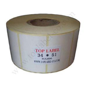لیبل 51*34 کاغذی